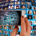 smartphone, hand, photomontage